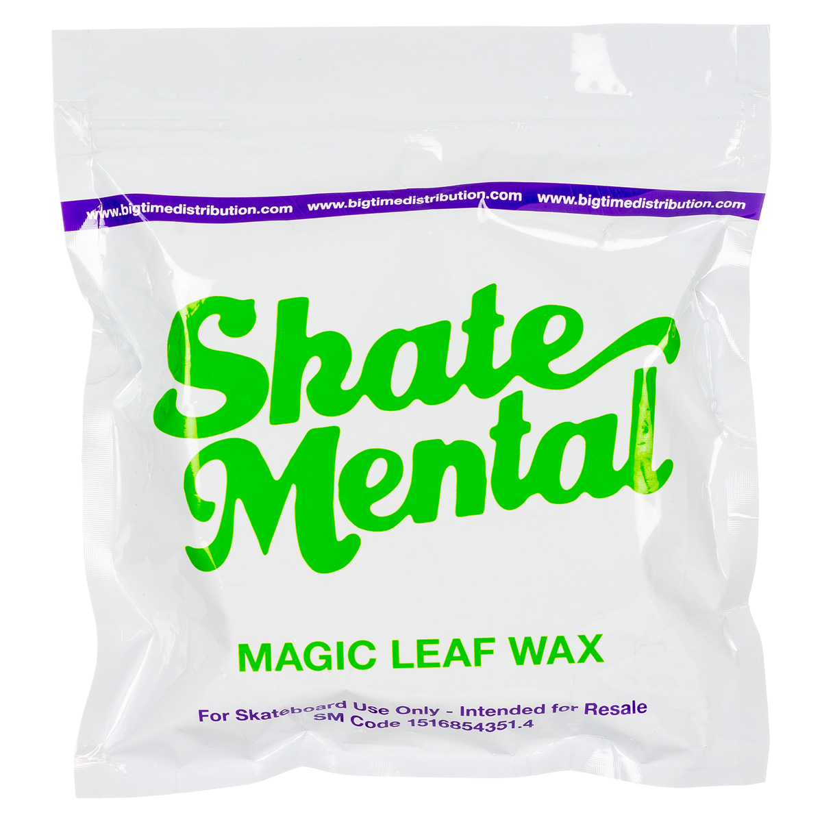 Skate Mental Skateboards Magic Weed Leaf Curb Wax Green