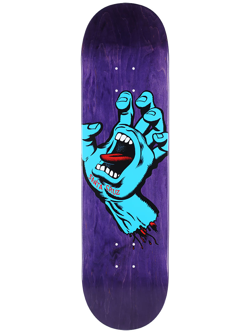SANTA CRUZ Skateboard Deck Minimal Screaming Hand 8.25 FREE GRIP & POST New