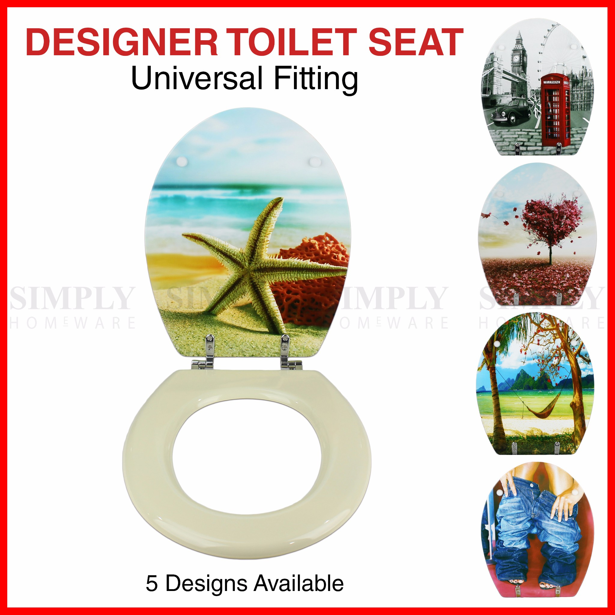 Toilet Seat and Cover Lid Designer Hard Bathroom Covers Bath Seat Lids