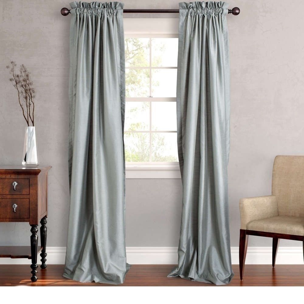 New Set 2 Window Curtains Panels Drapes Pair 108 In Faux