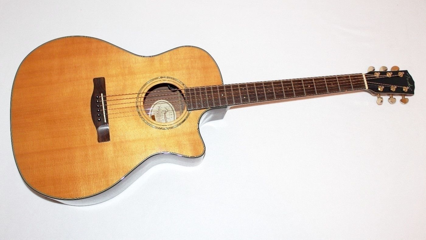 fender ga 45sce grand auditorium acoustic electric guitar w case ebay. Black Bedroom Furniture Sets. Home Design Ideas