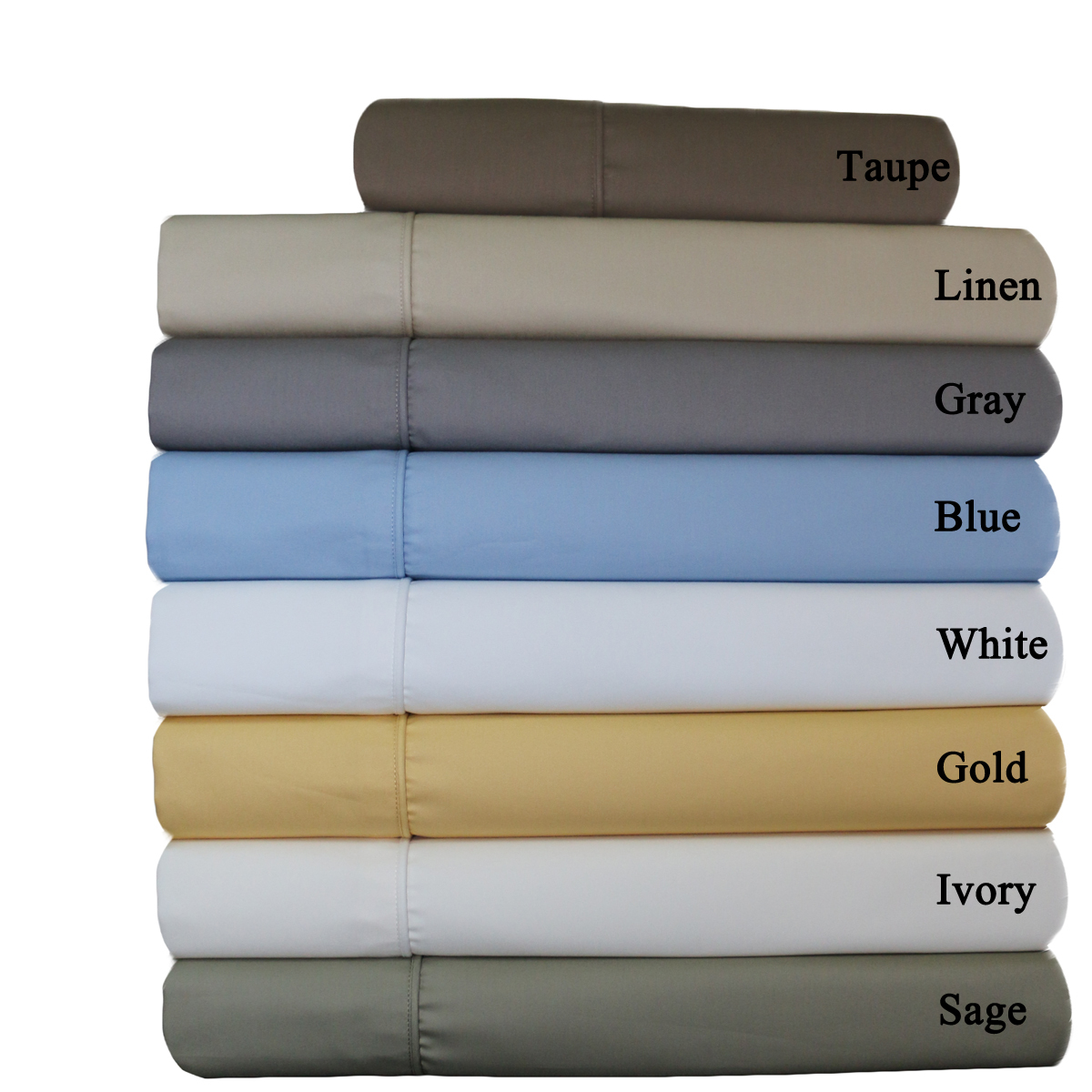22 Inch Wrinkle Free Cotton Blend Sheets 650 Tc Solid