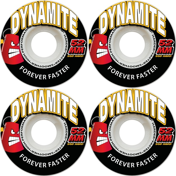 Dynamite Wheels 52mm Forever Faster 55d Red New Skateboard Tyres FREE POST