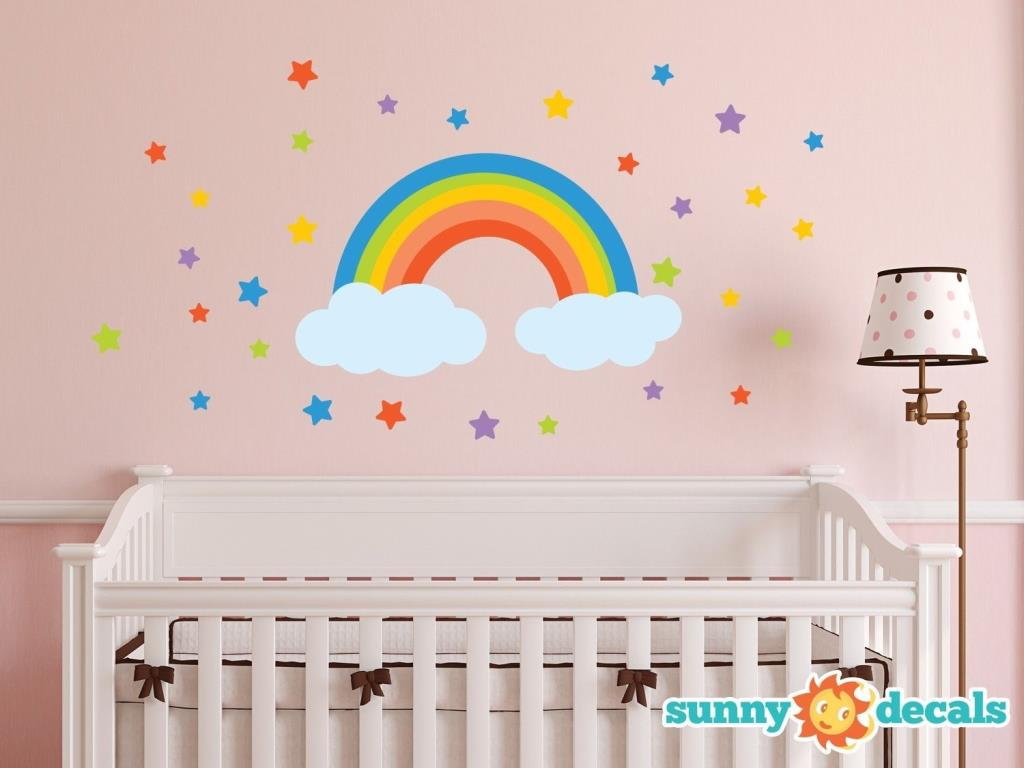 Etonnant Our Beautiful Rainbow Fabric Wall Decal Is A Removable, Reusable, Non Toxic  Fabric Wall Decal That Brings Joy And Color To A Baby Nursery, Play Room,  ...