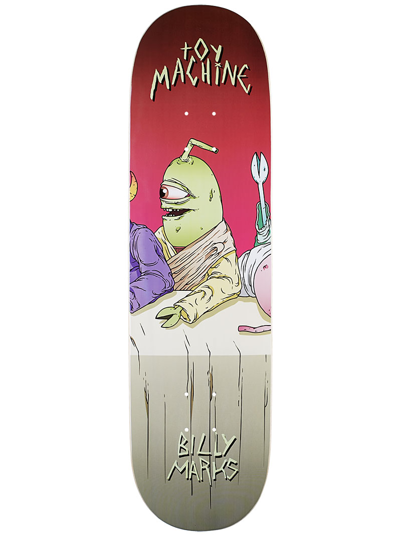 Toy Machine Skateboard Deck Marks Last Supper 8.5 Pro 1 of 8 FREE POST & FREE GRIP