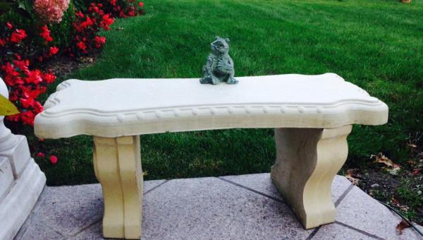 Concrete Cement Mold Fancy Scroll Concrete Bench Mold True