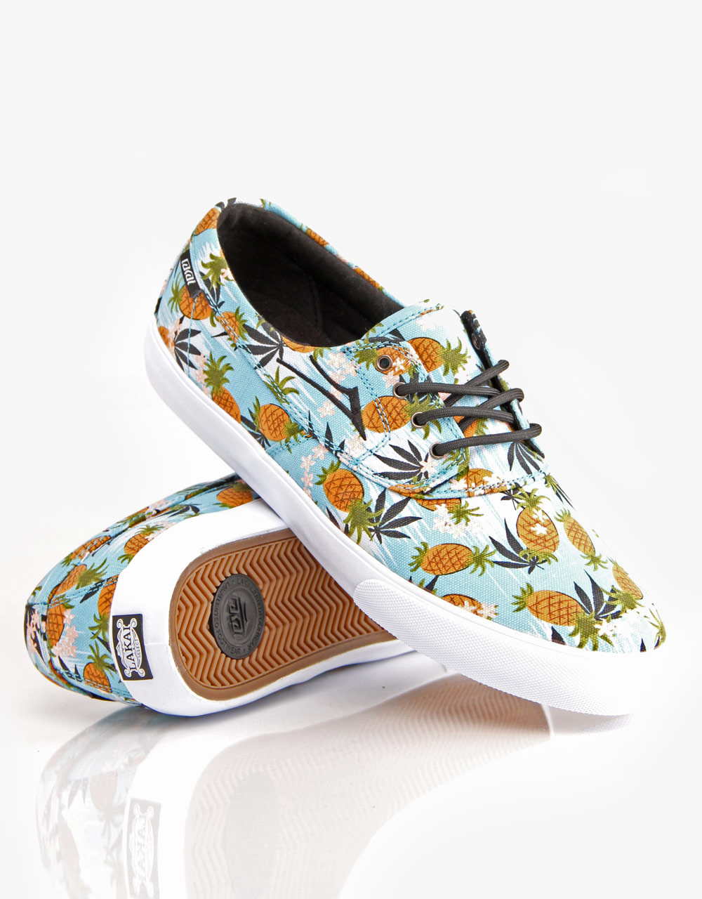 Lakai Shoes Camby x FTC Pineapple Kush Sky Canvas US SIZE FREE POST New Skateboard Sneakers