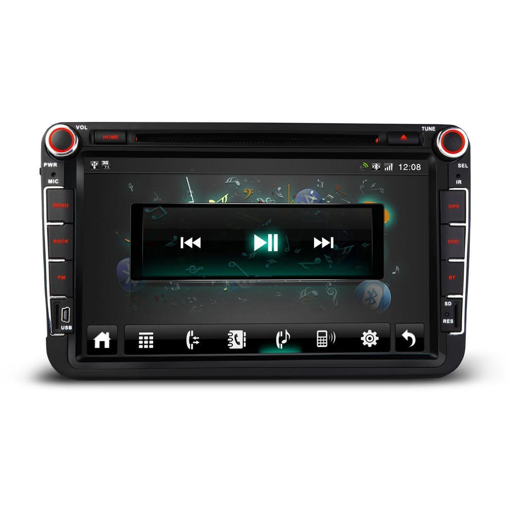 vw golf mk5 mk6 8 android 4 4 gps oem style radio stereo. Black Bedroom Furniture Sets. Home Design Ideas