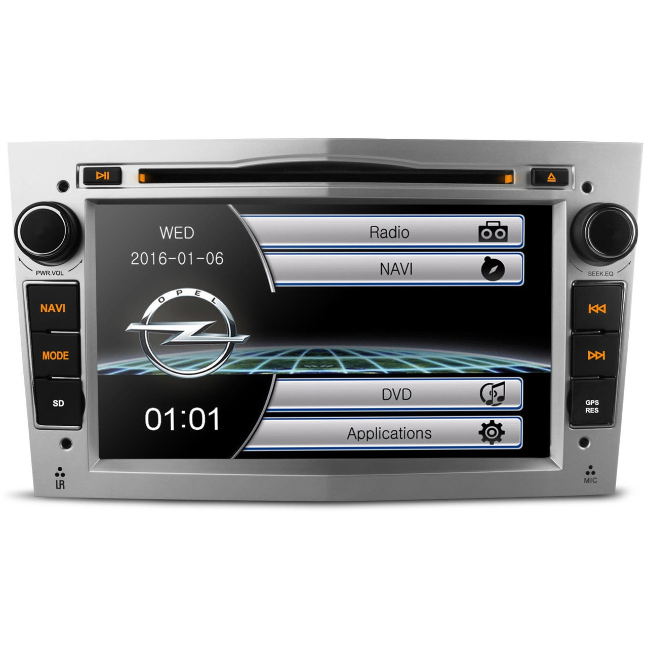 silver vauxhall corsa d oem style ui stereo kudos satnav. Black Bedroom Furniture Sets. Home Design Ideas