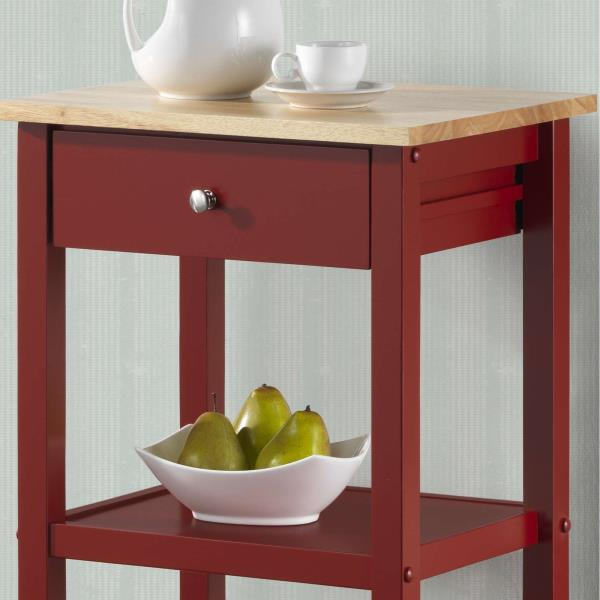 new red black white wooden rolling kitchen cart island buy real simple 174 rolling kitchen island in white from bed