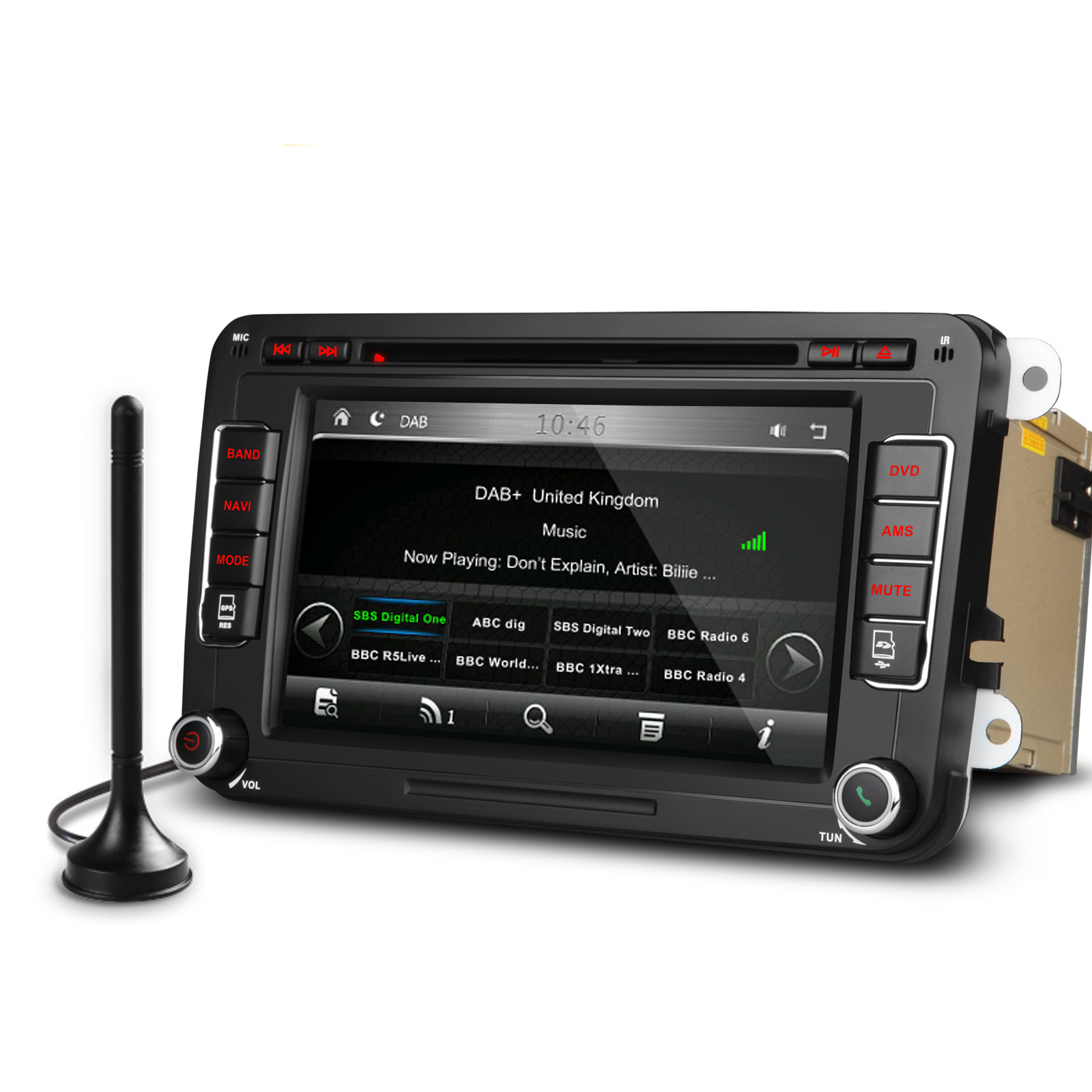 vw golf mk5 mk6 head unit stereo dab radio kudos satnav. Black Bedroom Furniture Sets. Home Design Ideas