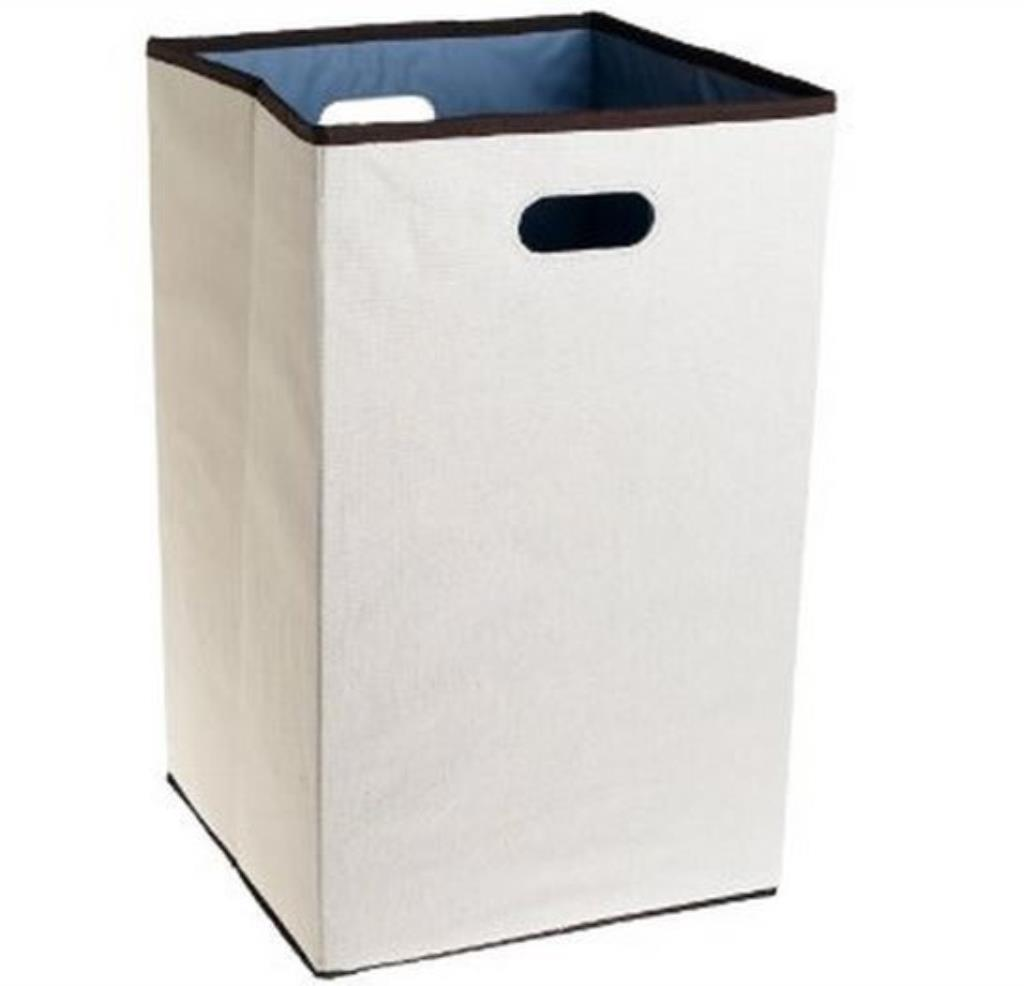 Rubbermaid folding laundry hamper clothes basket storage dirty washing bin new ebay - High end laundry hamper ...