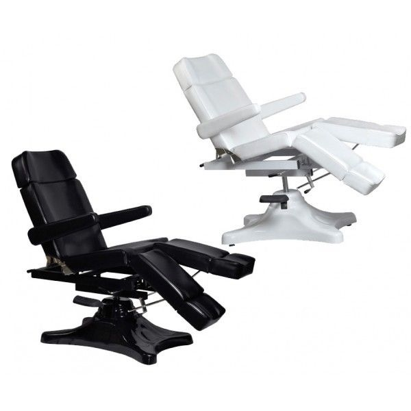 Black hydraulic facial white waxing beauty bed massage for Wax chair salon