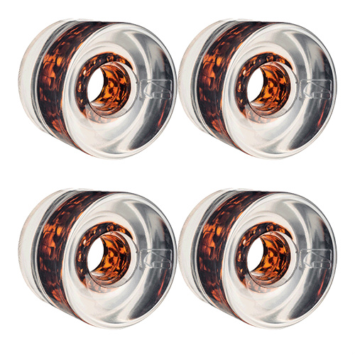 Globe Wheels G Icon Clear Tortoise Cores 65mm 78A for Cruiser Skateboards FREE POST
