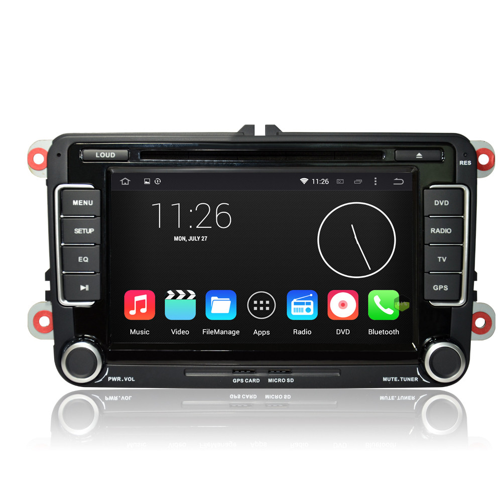 vw caddy transporter t5 stereo android 5 1 gps navi. Black Bedroom Furniture Sets. Home Design Ideas