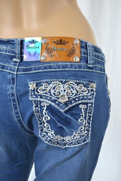 Vivi diva jeans boot cut embroidered and rhinestones sizes 6 8 10 12 14 16 ebay - Diva pants recensioni ...