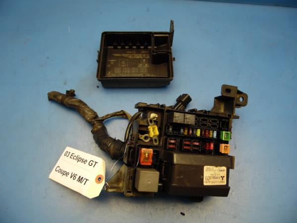 00 05 mitsubishi eclipse oem under hood fuse box fuses amp 00 05 mitsubishi eclipse oem under hood fuse box fuses cover v6 mr588273