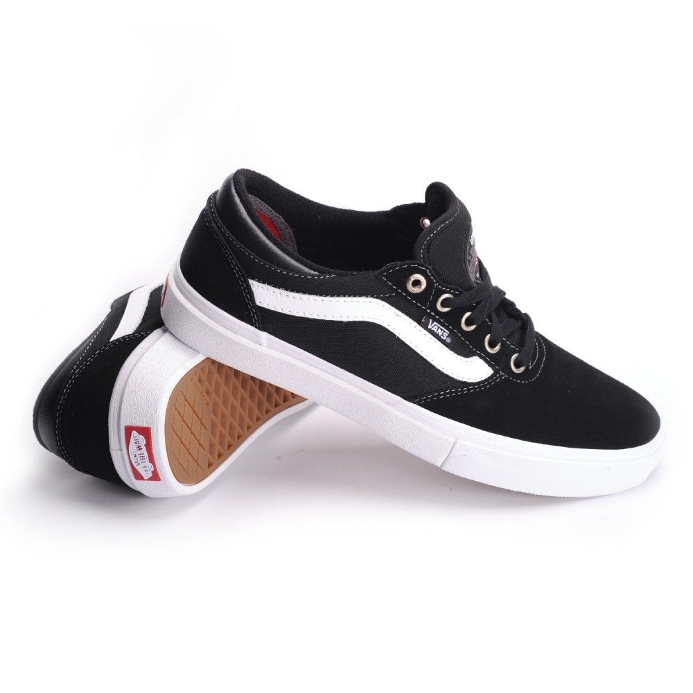 Vans Shoes Gilbert Crockett Black White Red FREE POST New USA Size Skateboard Sneakers