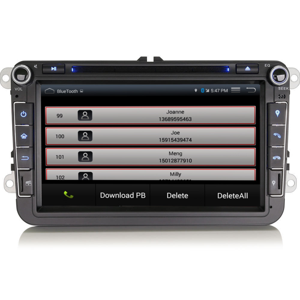 vw golf mk5 mk6 8 hd car radio stereo android rns gps. Black Bedroom Furniture Sets. Home Design Ideas