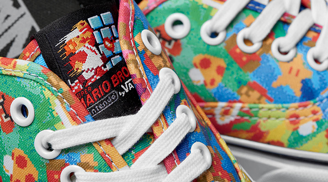 Vans X Nintendo Collection Shoes Authentic Super Mario Brothers Tie Dye Sneakers FREE POST