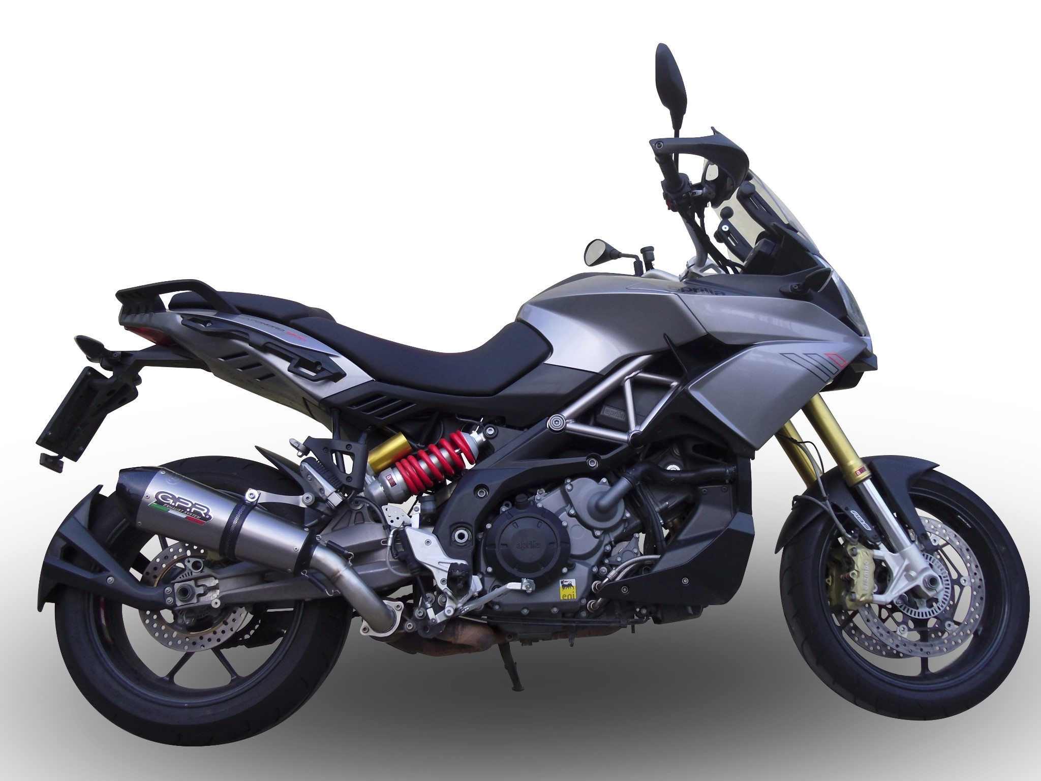 aprilia caponord 1200 gpr exhaust gpe titanium slipon silencer road legal ebay. Black Bedroom Furniture Sets. Home Design Ideas
