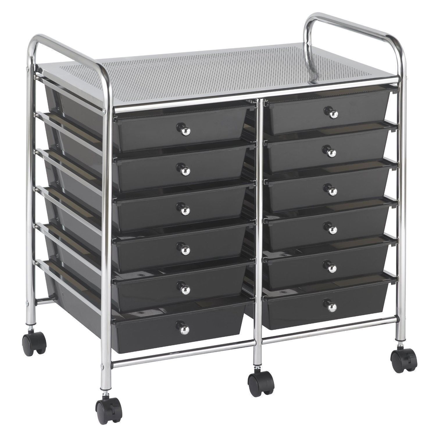 New Rolling Storage Organization 12 Shelves Plastic Drawers