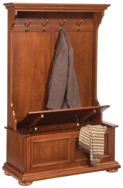 new hall tree bench coat rack entry way mud room wood seat storage hooks oak nib ebay. Black Bedroom Furniture Sets. Home Design Ideas