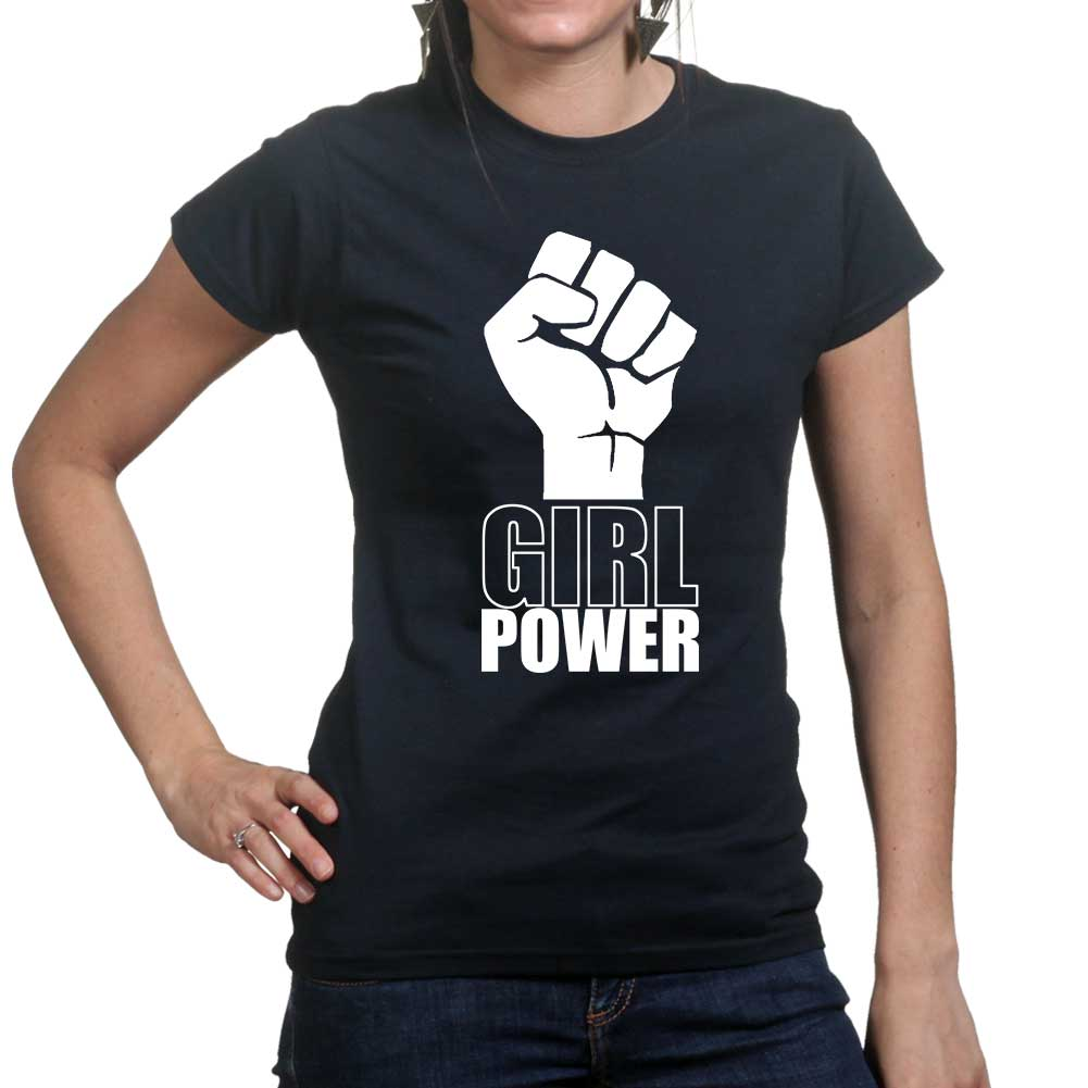 girl power ladies womens t shirt tee top t shirt ebay. Black Bedroom Furniture Sets. Home Design Ideas