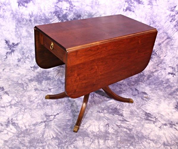Antique Drop Leaf Table Lion Pull Dining Console Sofa Game