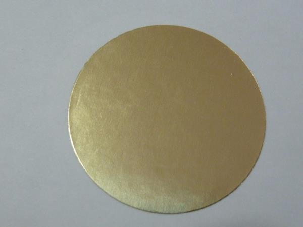 "Notary Glossy Gold Foil smooth edge Seals 2"" Diameter ..."