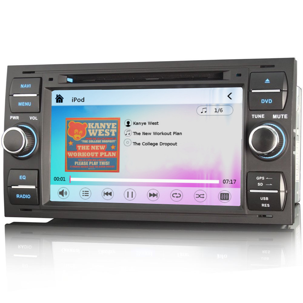 Ford Fiesta Mk6 6000 Cd 7 U0026quot  Hd Stereo Gps Sat Nav Internet Bluetooth Ipod Radio
