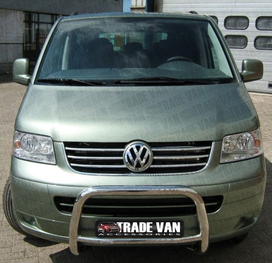 vw t5 6pc chrome radiator grille covers cover stainless steel caravelle 03 09 ebay. Black Bedroom Furniture Sets. Home Design Ideas