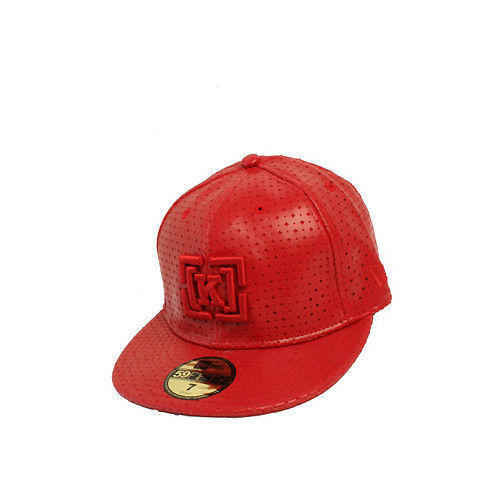KR3W Cap Semilla Red FlexFit 7.5 Perf Leather Era Krew Clothing Skateboard Hat FREE POST