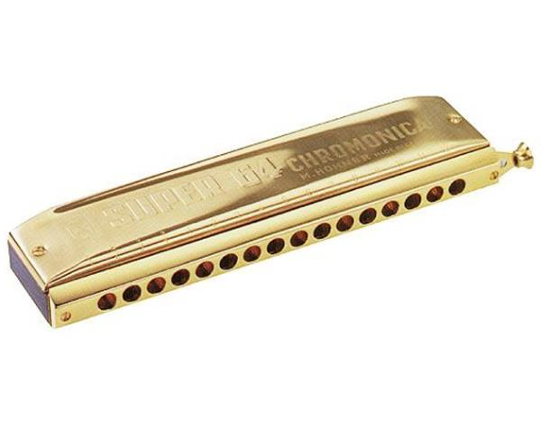 hohner super 64 chromatic harmonica gold 16 holes made in germany brass m758364 ebay. Black Bedroom Furniture Sets. Home Design Ideas