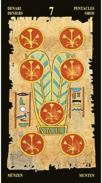 Egyptian Tarot Kit Deck Book Loscar: The Egyptian Tarot Cards Deck Ancient Hieroglyphics