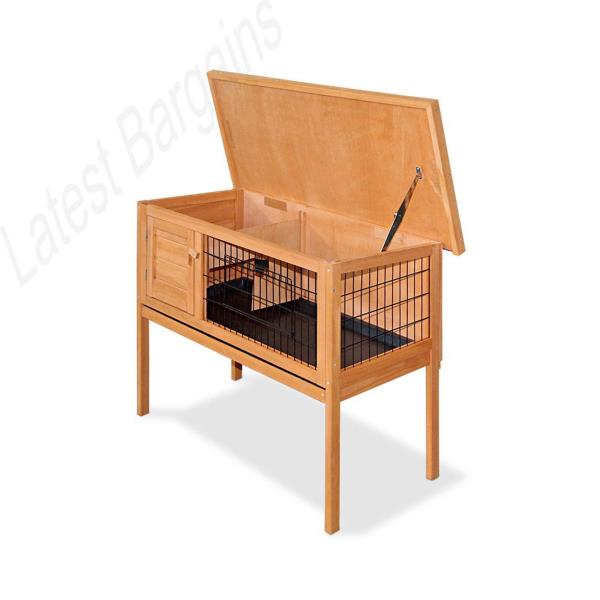 Rabbit hutch guinea pig cage house single storey raised for Furniture zipmoney