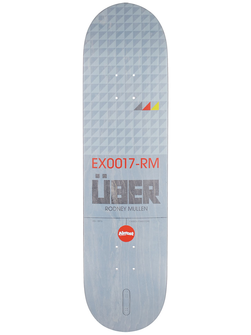 Almost Skateboard Deck Mullen Uber EX17 8 Carbon Foam Core FREE Post FREE Grip