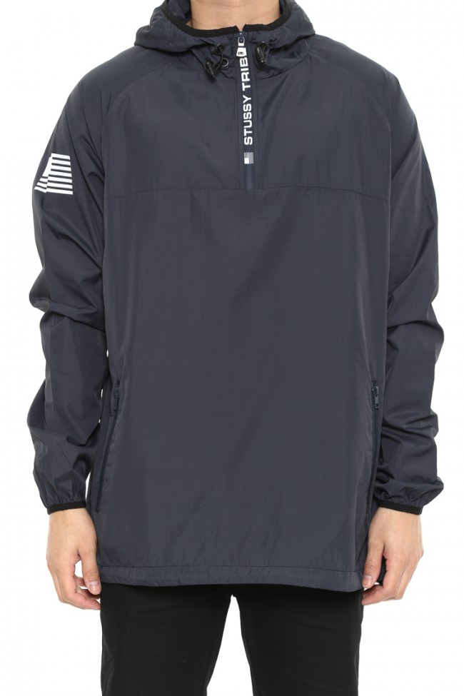 Stussy Tribe Spray Jacket Navy Wind Breaker Mens Skateboard Parker FREE POST