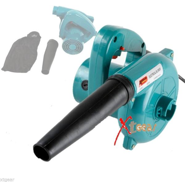 Electric leaf blower handheld vacuum action dust cleaning for Dust collector motor blower