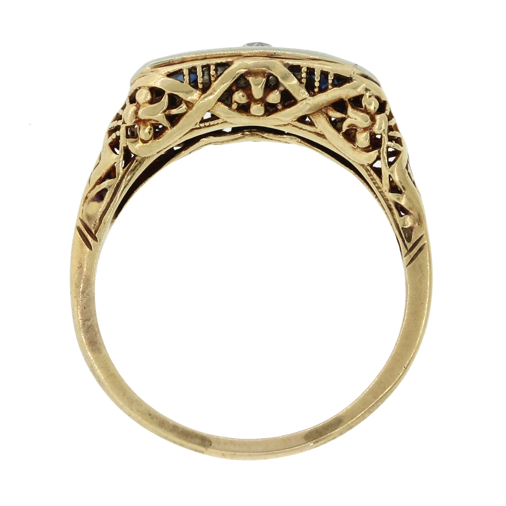 1880s Antique Victorian 14k Solid Yellow Gold Diamond ...
