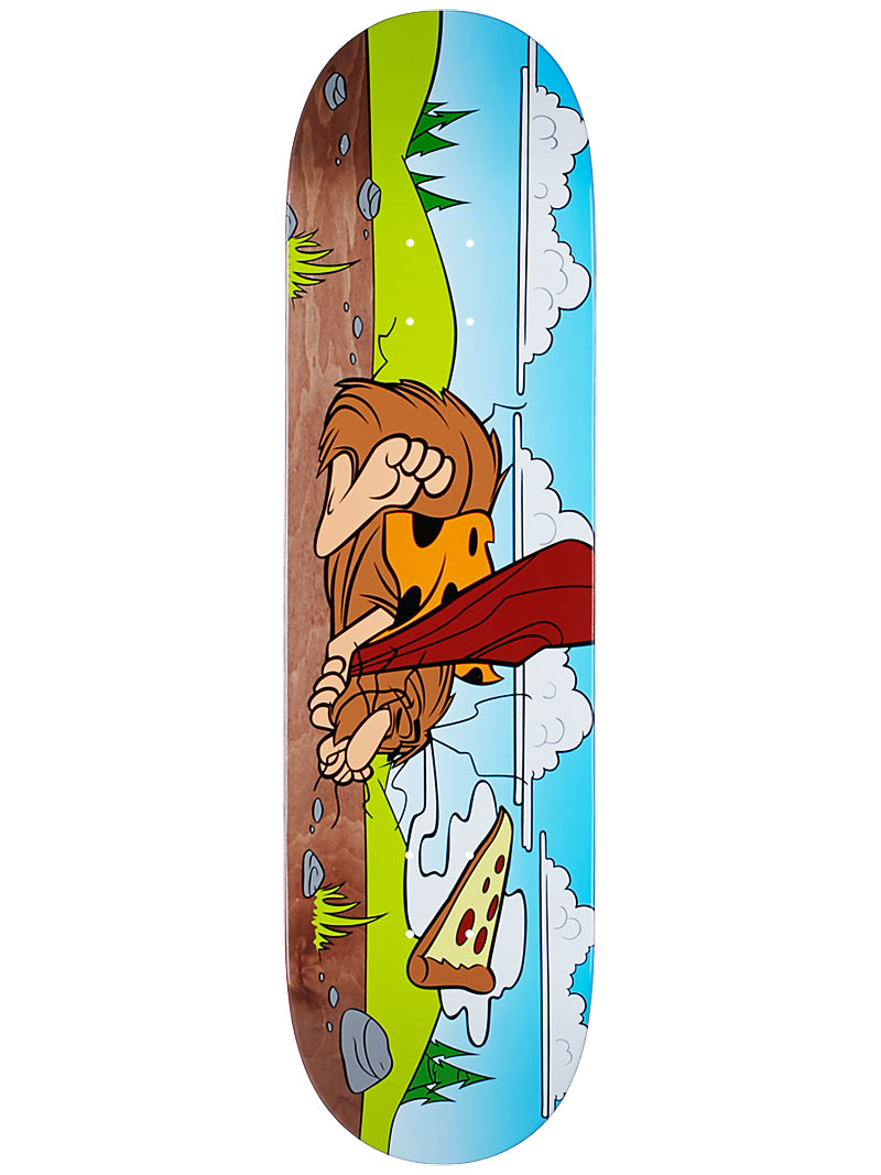 Almost Skateboard Deck Haslam Napping Caveman 8.375 R7 Free Grip & Free Post