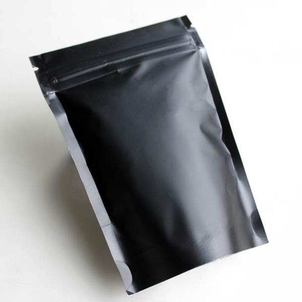 100 black metallic foil zip lock stand up bags pouches ebay. Black Bedroom Furniture Sets. Home Design Ideas