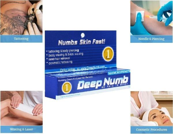 10g deep numb skin numb numbing cream painless piercings for Does dr numb work for tattoos