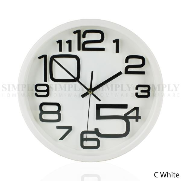 Wall clock large modern clocks kitchen black white red - Modern clocks for kitchen ...