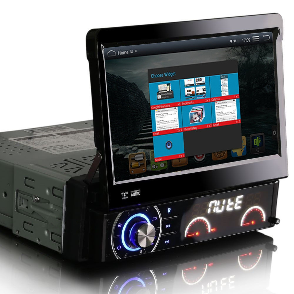 android 4 4 kitkat single din head unit gps satnav maps. Black Bedroom Furniture Sets. Home Design Ideas