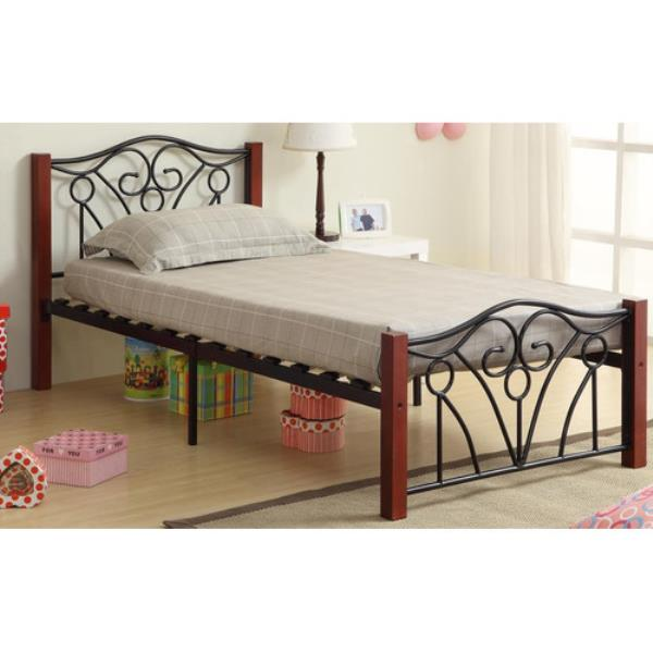 new twin full size wood metal mattress foundation bed frame headboard footboard ebay. Black Bedroom Furniture Sets. Home Design Ideas