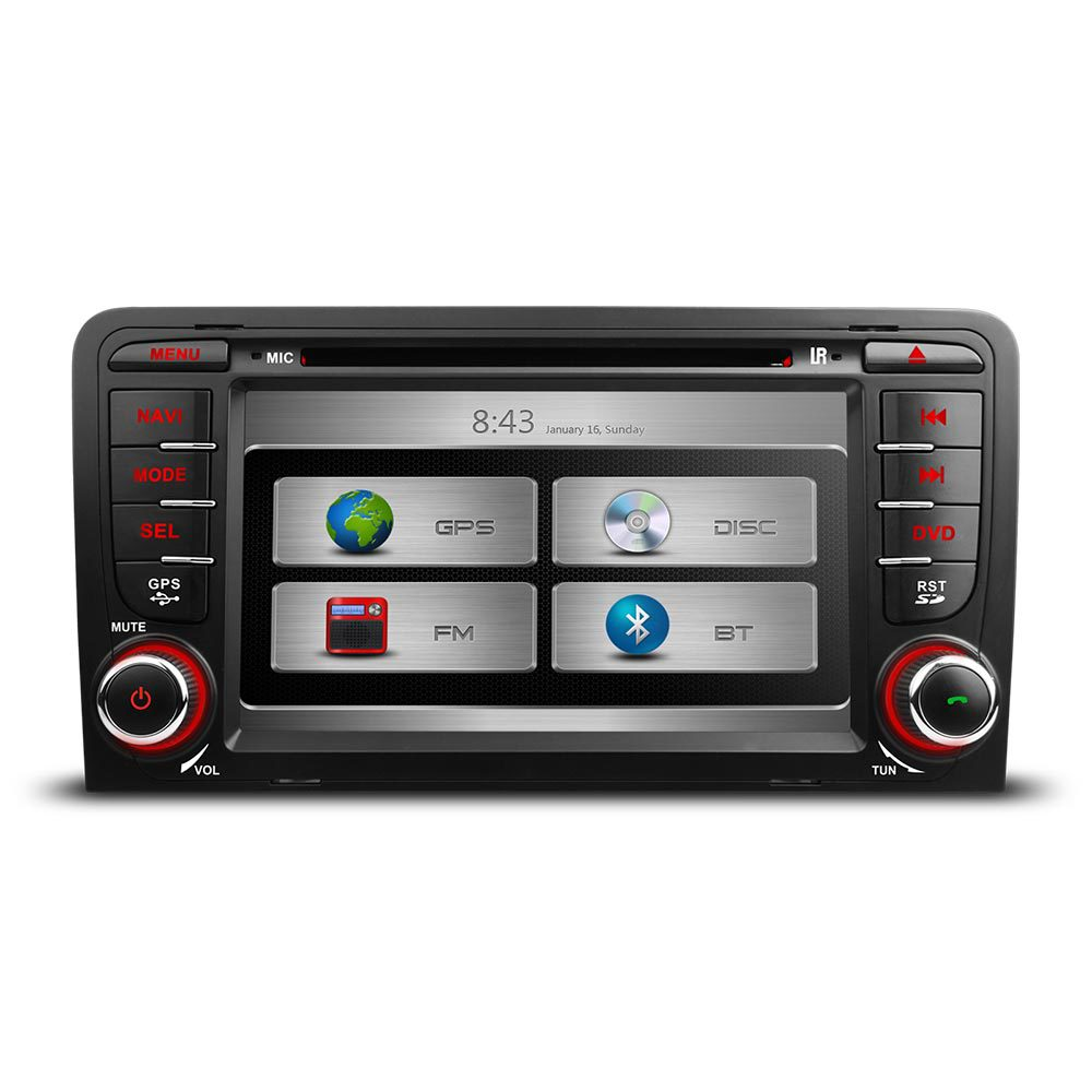 audi a3 s3 oem style stereo gps kudos satnav headunit bluetooth radio stereo dvd ebay. Black Bedroom Furniture Sets. Home Design Ideas