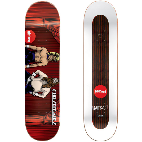 Almost Skateboard Deck Haslam Chrisendales IL 8.5 FREE POST FREE GRIP New