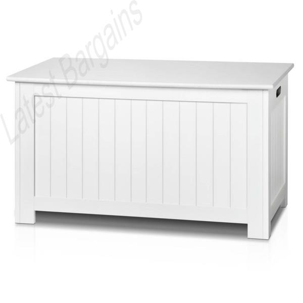Kids Storage Bench Furniture Toy Box Bedroom Playroom: White Storage Bench Bedroom Blanket Chest Cabinet Kids Toy