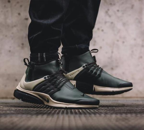 nike air presto mid utility green camo gold size 6 13. Black Bedroom Furniture Sets. Home Design Ideas